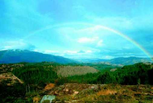Rainbow in the sky is a reminder of God's faithfulness